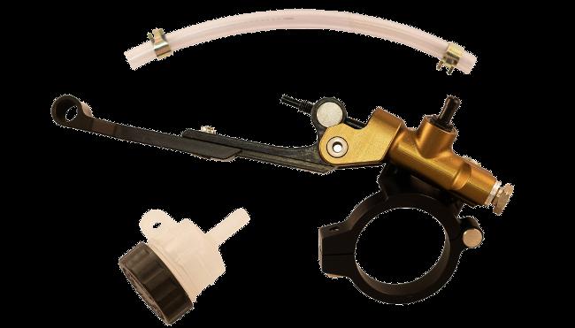 Motorcycle Racing Thumb Brake - Full Kit with Adjustable Leveller